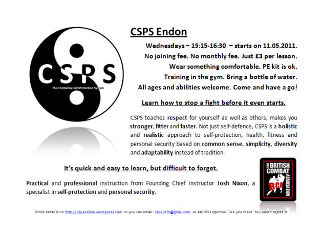 CSPS Endon Poster